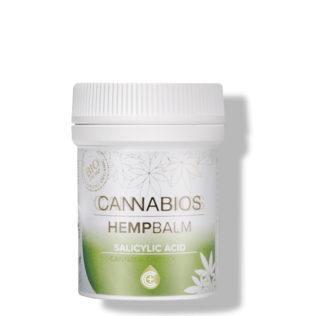 CANNABIOS Pommade CBD réparatrice à l'acide salicylique pour peaux squameuses et gercées 50 ml