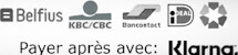 Methodes de paiements biobey: bancontact cbc kbc ideal webshop giftcard payer apres avec klarna